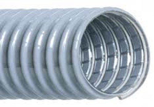 Hi-Tech Duravent - 3580300000260 Super Vac-U-Flex Series PVC Vacuum Duct Hose, Grey, 3