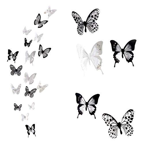 SwirlColor 36 x 3D Schmetterlings Kristall Dekor Wand Aufkleber Dekor Wandtattoos (PVC)