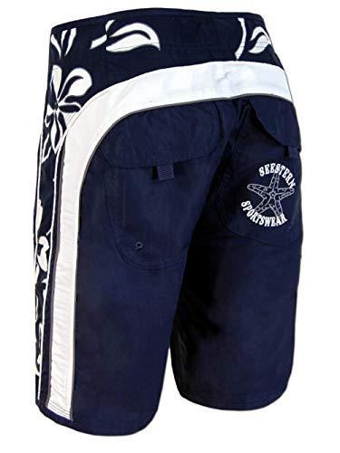 SEESTERN Herren Boardshorts Surfshorts Boardshort Surf Short Bade Shorts XS-3XL mittellang 47-49cm /1024 Blau M
