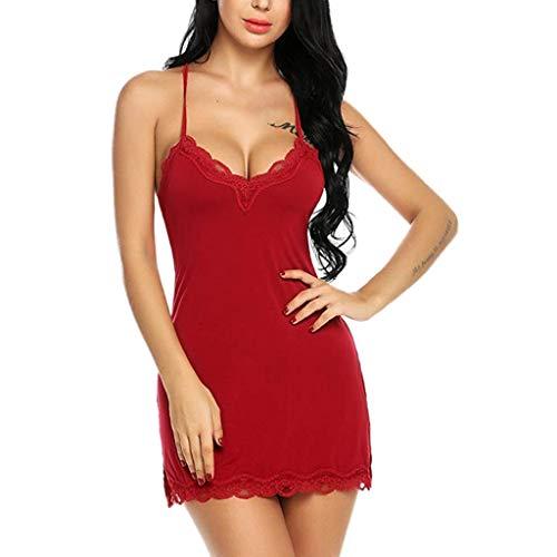 Damen Sexy Dessous Lingerie Unterwäsche,Sling-Pyjama mit kurzem Rock,Sexy Dessous Nachtwäsche Unterwäsche Robe Babydoll Nachtwäsche S-XXL