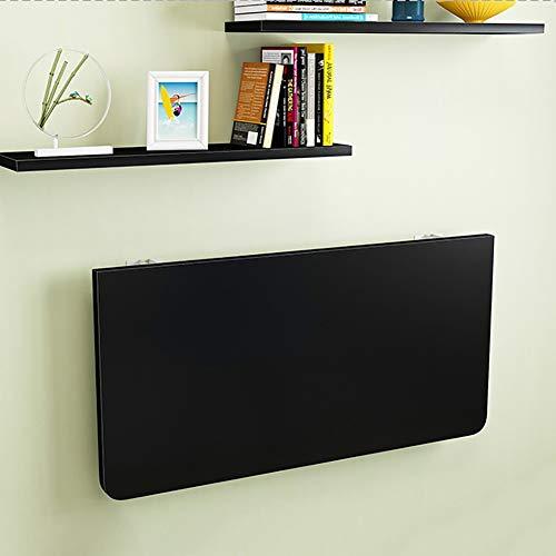 Wandklapptisch Schreibtisch Klappbarer Schreibtisch Zur Wandmontage, Schwarz, Platzsparender Klapp-Küchentisch Mit Ablagefach Für Das Arbeitszimmer Im Schlafzimmer (Size : 140×60cm)