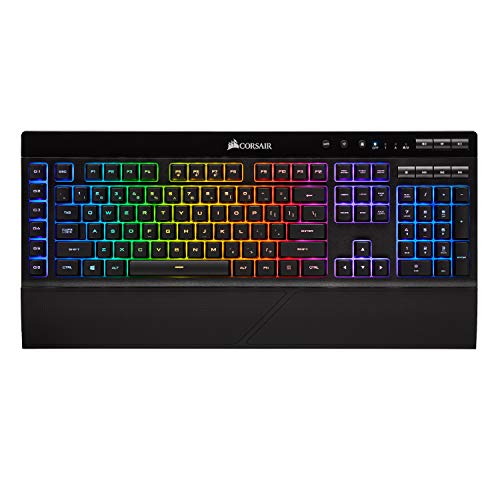 CORSAIR K57 RGB Wireless Gaming Keyboard - <1ms response time with Slipstream Wireless - Connect with USB dongle, Bluetooth or wired - Individually Backlit RGB Keys, Black