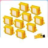 HNTYY Accesorios de HEPA FILT FIT para IROBOT FIT FOR Serie DE RAEJA 700 761 765 770 772 774 775 776 780 782 785 786 790 Robot aspiradora Piezas de aspiradora (Color : 10 Filters in 1 Set)