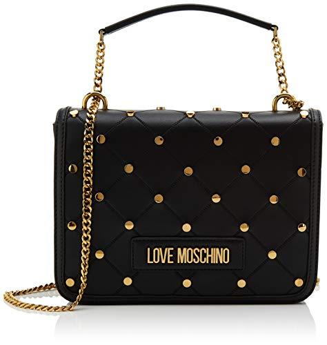 Love Moschino Jc4094pp1a, Borsa a Tracolla Donna, Nero (Nero), 9x19x26...