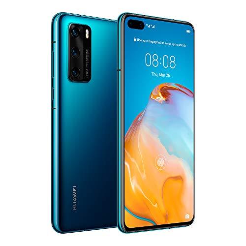 "Huawei P40 5G 6.1"" Dual SIM 128GB 8GB RAM (GSM Only, No CDMA) International Version - No Warranty (Deep Sea Blue)"