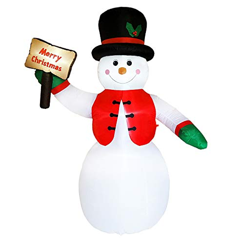 Dreamone 8.5 Foot Christmas Inflatable Snowman Lights for Christmas Decorations Indoor Outdoor Yard Garden Party Decorations