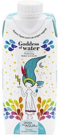 Diosa del Agua - Agua en Cartón 33cl, Caja de 24 Unidades | Agua Purificada en Caja de Mineralización Muy Débil | Agua En Brick