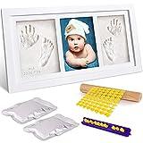 Frasheng Kit de Huellas de Mano y Pie de Bebé,Kit de Marco de Bebé,Marco Huellas Bebé,con Marco de F...