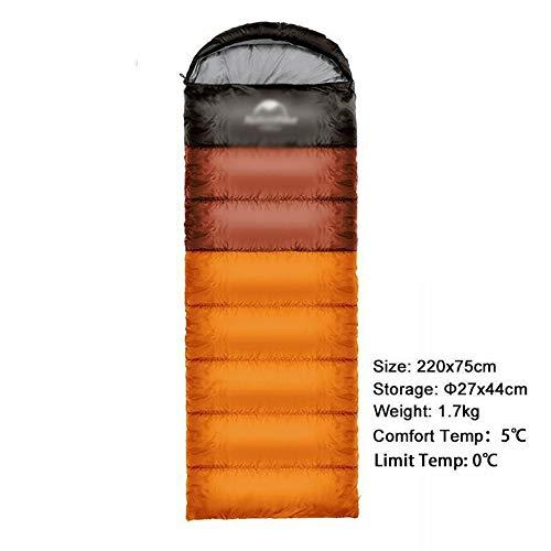 Sac de Couchage pour Camping en Plein air Ultra léger pour Double Personne, Sac de Couchage Portable en Plein air Sac de Couchage Nemo (Couleur : orange1,7 kg)