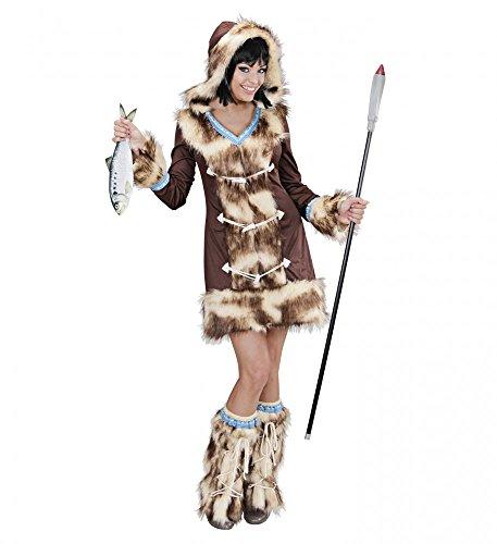 Widmann s.r.l. Fell-Kostüm Eskimo Girl Aikaa Kunstfell Damen Verkleidung Inuit warm sexy, Größe:L