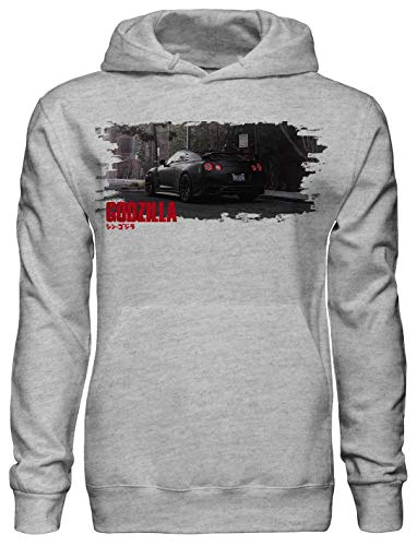 Legendary Most Powerfull JDM car Ever Created Nismo/Nissan GTR r35 Godzilla Fan Artwork Unisex Pullover Hoodie with Pockets - Ring Spun Cotton Hooded Sweatshirt - Soft and Warm Inside - DTG Printed