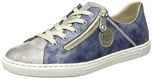 Rieker Damen L0943 Sneaker, Blau (Grey/Jeans / 41), 36 EU