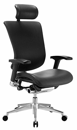 GM Seating Ergonomic Executive Genuine Leather Chair Dreem Chair Chrome Base