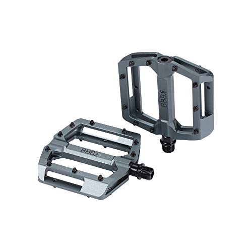 BBB Enigma Pedales para Bicicleta, Ciclismo, Gris Mate, 100 x 100 mm