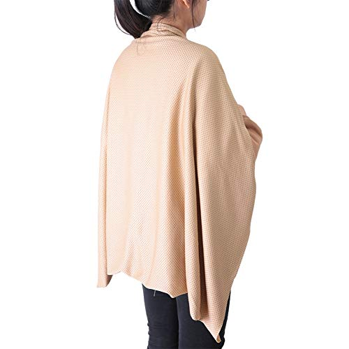 Shoulder Self Heated Shawl, Multi-functional Blanket Plush Tourmaline Self Heating Blanket Cloth Soft Comfortable Elastic Heating Cloth Fabric for Indoor Outdoor Winter Camping