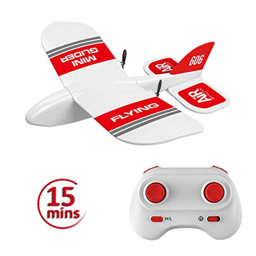 elegantstunning KF606 2.4Ghz RC Airplane Flying Aircraft EPP Foam Glider Toy Airplane 15 Minutes Fligt Time RTF Foam Plane Toys Kids Gifts 2 Battery