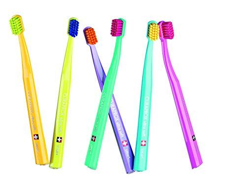 Smart Kinder & Erwachsene mit kleine Münder, Zahnbürste, Ultra Weich, 6 hochwertige Pinsel, bessere Zahnreinigung, weicheres Gefühl Curaprox 7600 Ultra Soft Smart.