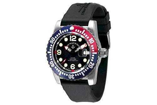 Zeno Watch Basel Reloj para Hombre Analógico Automático con Brazalete de Silicona 6349-3-a1-47