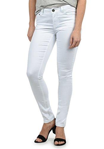 DESIRES Lala Damen Jeans Denim Hose Röhrenjeans Stretch Skinny Fit, Größe:W28/32, Farbe:White (0001)