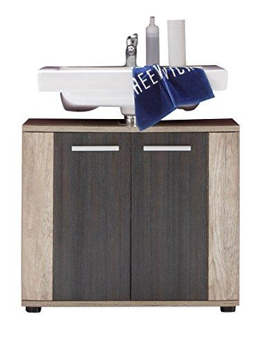 trendteam smart living 1408-301-58 Mobile sottolavabo a 2 ante, 70 x 61 x 32 cm, Marrone (Braun)