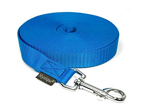 Mystique Nylon Schleppleine 20mm blau 5m mit HS