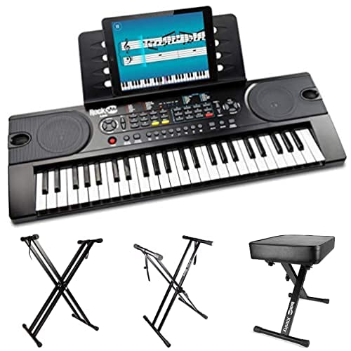 RockJam RJ549 - Piano de Teclado Eléctrico Portátil + Soporte de teclado...