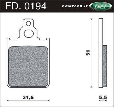 Remvoeringen NewFren type FD.0194 (1 set van 2 stuks)