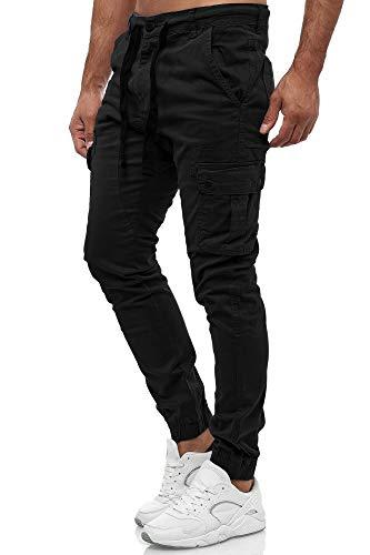 Tazzio Italia Slim Fit Herren Stretch Chino Jeans Hose Denim 18525 (W34, Schwarz)