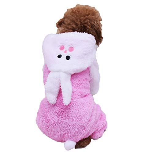 VILLCASE 1 Pieza Adorable Abrigo clido para Mascotas Creativo Divertido diseo de Conejo Ropa Disfraz de Mascota para Cachorro Perro Gato Talla L- Suministros para Perros