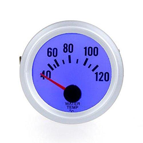 """Unbekannt Wassertemperaturmessinstrument -Lehre mit Sensor für Auto Auto 2""""52mm 40~120 Celsius Grad blauem LED-Licht"""