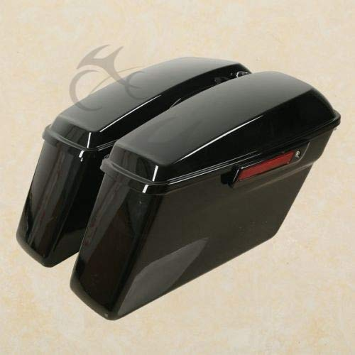 Cheapest Price! ABS Hard Saddlebags + Latch Keys For Harley Road King Electra Street Glide 2014-2020