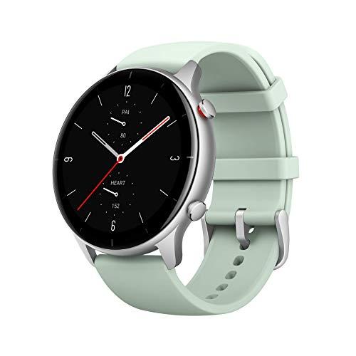 Amazfit Smartwatch GTR 2e GPS 1,39'' AMOLED Aktivitätstracker für Fitness und Gesundheit mit 90 Sportmodi, 24 Tagen Akku, Überwachung von SpO2, Herzfrequenz, Schlaf und Stress für Herren Damen
