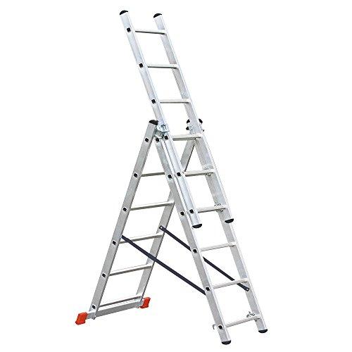 Aluminium Vielzweckleiter, 3 x 6 Sprossen, Arbeitshöhe bis 4210 mm