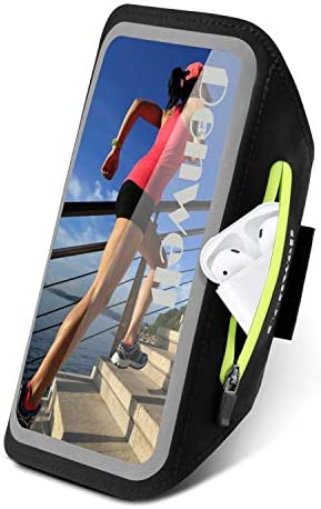 Tsuinz Cell Phone Armband Sport Running Exercise Gym Case with Airpods Bag Key Holder Card Slot product image