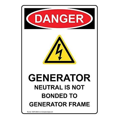 Gevaar Generator Neutraal is niet gebonden aan Generator Frame Sign, Grappige Tin Metaal Waarschuwingsborden voor eigenschap, Aluminium, Poort Sign, Hek Teken Buiten, 8