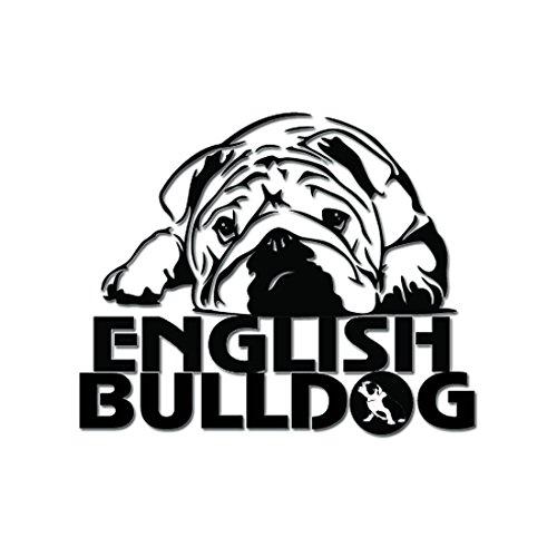 13 cm х 10,5 cm Englische Bulldogge Vinyl Decal Auto Anime Sticker Laptop Sticker, Motorrad aufkleber, Auto Deko, Fahrrad Aufkleber, Auto Tuning, Aufkleber...