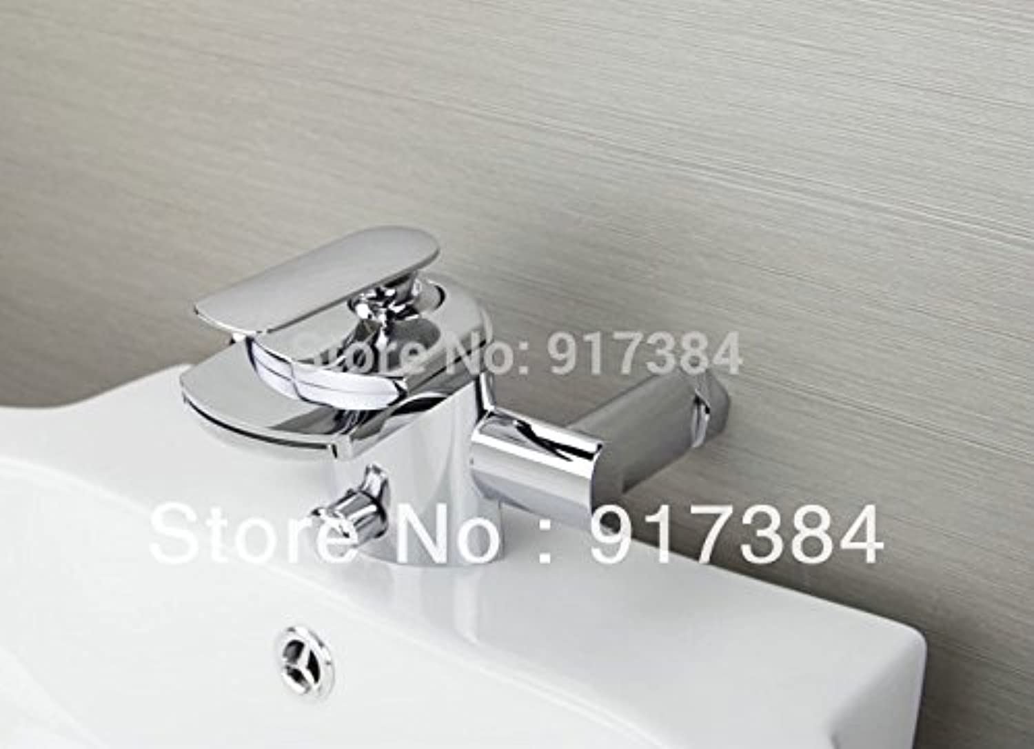 U-Enjoy New Waterfall Wall Top Quality Mounted Bathtub with Hand Home Bathroom Kitchen Shower Mixer Tap Faucet (Free Shipping)