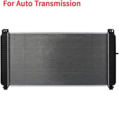 Deebior Automatic Transmission 1 Row Radiator For Chevy 01-02 Silverado 2500HD 8.1L & 01-02 Silverado 3500 8.1L & 01-02 Suburban 2500 8.1L & GMC 01-02 Sierra 2500HD 8.1L & 01-02 Sierra 3500 8.1L