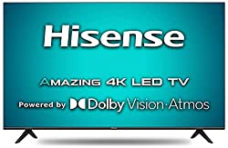 Hisense 108 cm (43 inches) 4K Ultra HD Smart Certified Android LED TV 43A71F (Black) (2020 Model) | with Dolby Vision and Atmos,Hisense,43A71F
