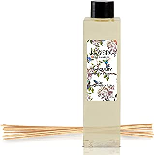 LOVSPA Tranquility Green Tea & Lemongrass Reed Diffuser Oil Refill with Replacement Reed Sticks | Clear, Crisp, Lively Green Tea and Lemon | 4 oz| Made in The USA
