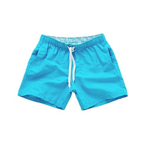 IFOUNDYOU Herren Badeshorts Schnelltrocknend Einfarbig mit Taschen Verstellbarem Tunnelzug Casual Badehose Kurze Hose für Männer Jungen Surf Sports Running Wassersport