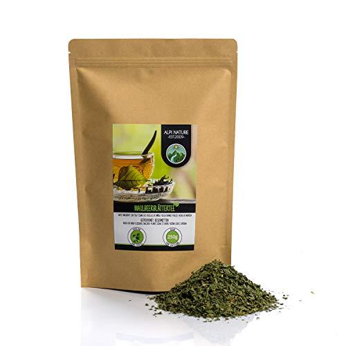 Maulbeerblätter Tee (250g), geschnitten, schonend getrocknet, 100% rein und naturbelassen zur Zubereitung von Tee, Maulbeerblättertee, Kräutertee