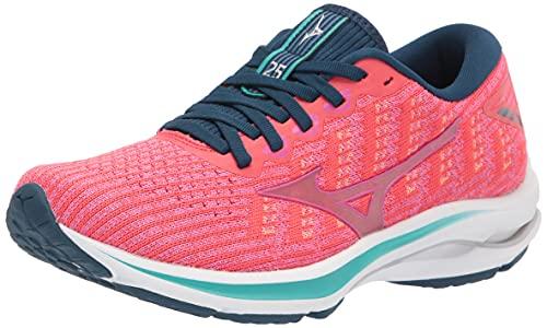 Mizuno Women's Wave Rider 25 Running Shoe, Cayenne-Phlox Pink, 8.5