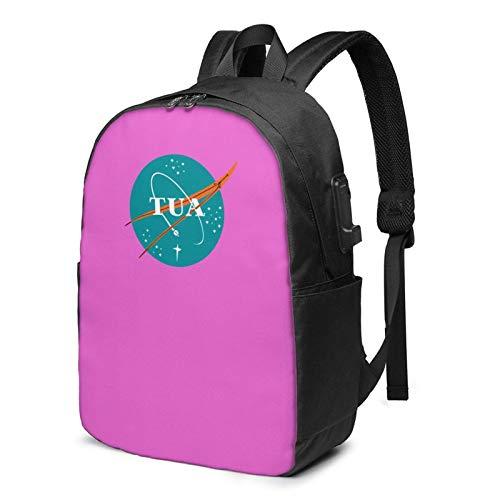 IUBBKI Bolsa para computadora mochila USB T-U-A Ta-Go-V-Ailo-A 17 Inch Laptop Backpack For Men & Women,Travel/School Backpack With Usb Charging Port & Headphone Interface
