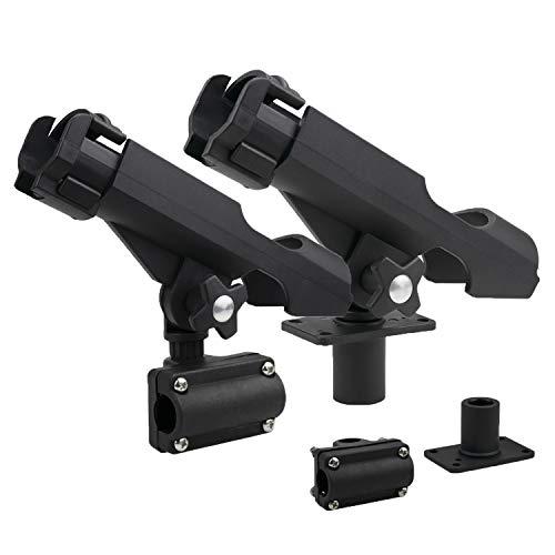 Bekith 2 Pack Adjustable Powerlock Rod Holder with Combo Mount