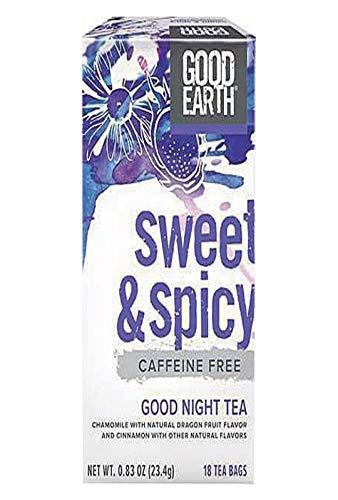 Good Earth Sweet & Spicy Good Night Tea, 18 Count Tea Bags