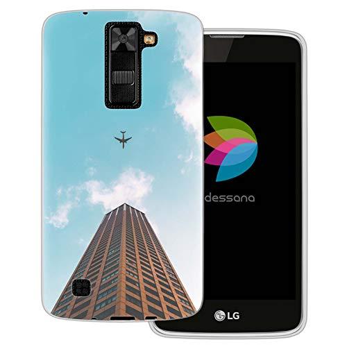 dessana wetenschap transparante beschermhoes mobiele telefoon case cover tas voor LG, LG K8, Vliegtuig in de lucht.
