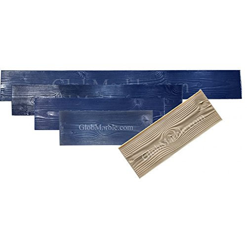 GlobMarble Wood Plank Concrete Stamp Set. Wood Texture Stamp Mat SM 5000 S. 5 Pieces Woodgrain