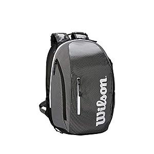 41GJIN0IGvL. SS300  - Wilson Mochila Super Tour Backpack Negro Blanco