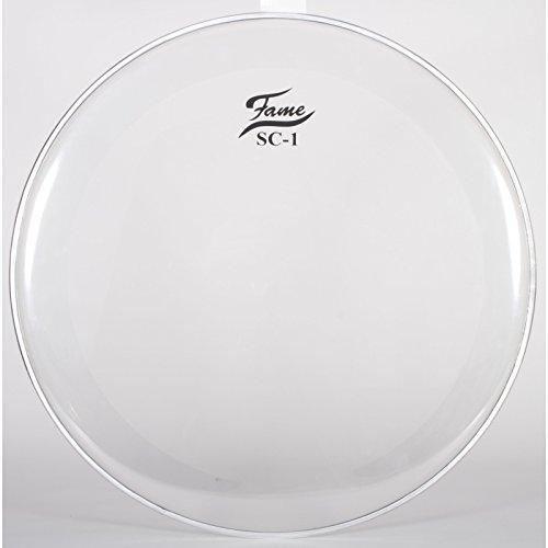 "Fame BassDrum Fell SC1, 22"", Clear, Sound Control, m. Logo"